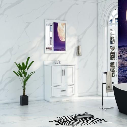 """Flow Floor Mount 24"""" Single Sink Vanity"""