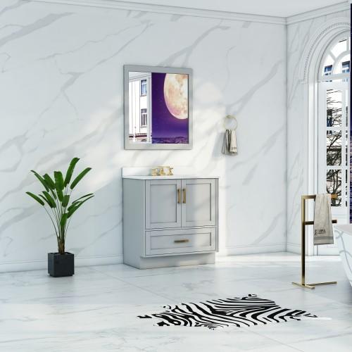 """Flow Floor Mount 30"""" Single Sink Vanity"""