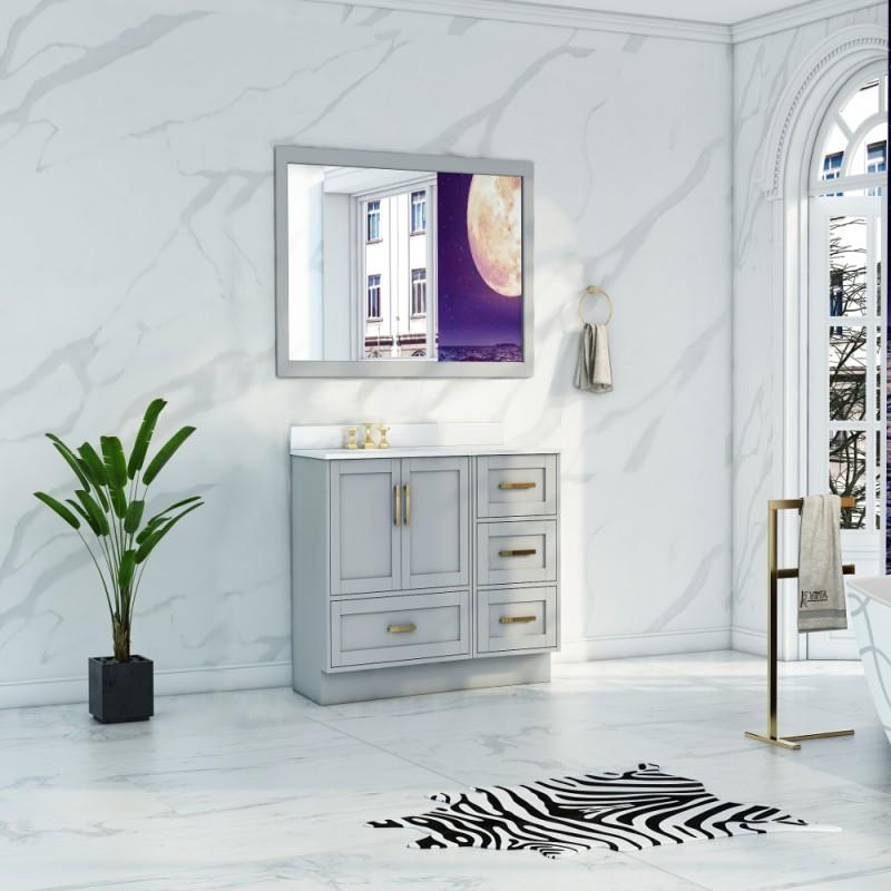"""Flow Floor Mount 34"""" Single Sink Vanity"""