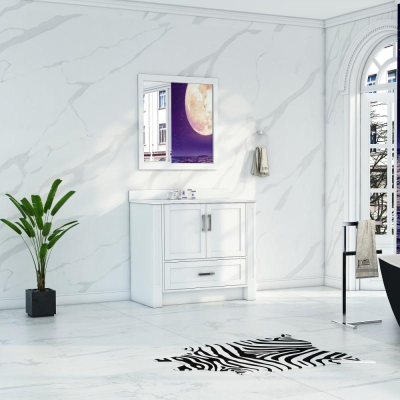 """Flow Floor Mount 36"""" Single Sink Vanity"""
