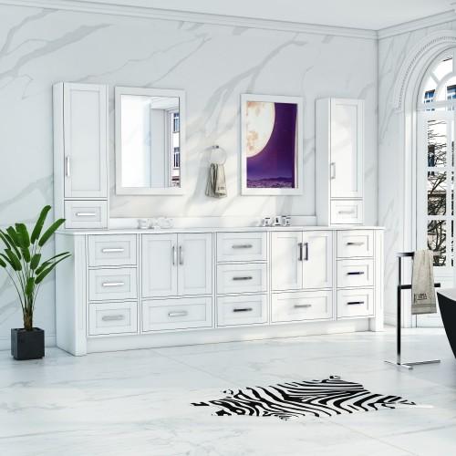 """Flow Floor Mount 101"""" Double Sink Vanity"""