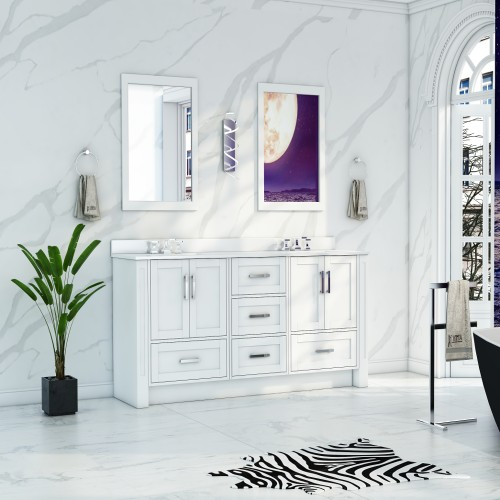 """Flow Floor Mount 60"""" Double Sink Vanity"""