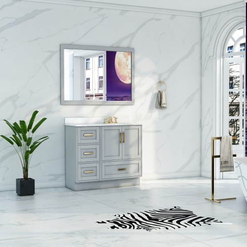"""Flow Floor Mount 38"""" Single Sink Vanity"""