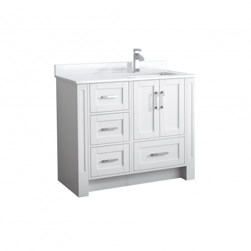 """Flow Floor Mount 40"""" Single Sink Vanity"""