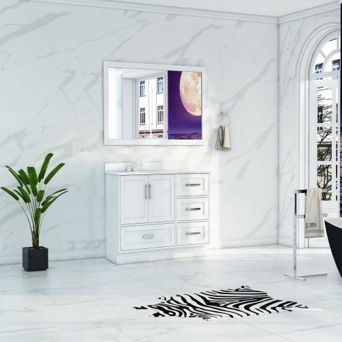 """Flow Floor Mount 42"""" Single Sink Vanity"""