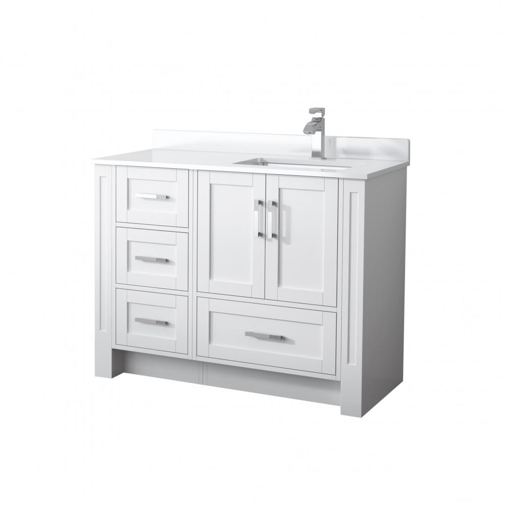 Single Sink Vanity Freestanding, 44 Bathroom Vanity