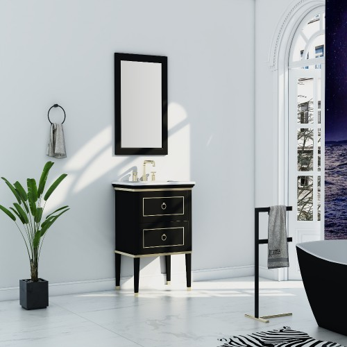 "Blackstar Floor Mount 24"" Single Sink Vanity"