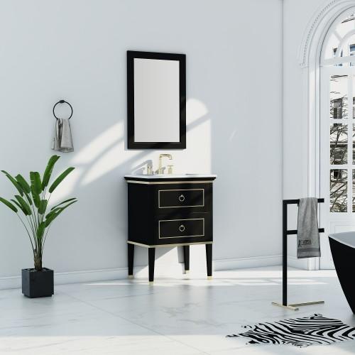 "Blackstar Floor Mount 30"" Single Sink Vanity"