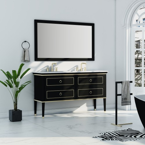 "Blackstar 60"" Double Sink Vanity"
