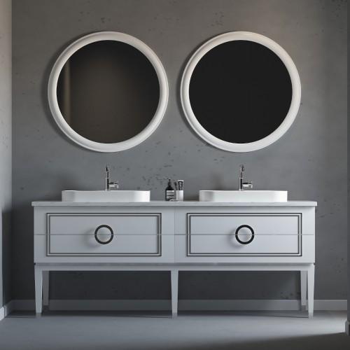 """Sarah Floor Mount 60"""" Double Vessel Sink Vanity"""