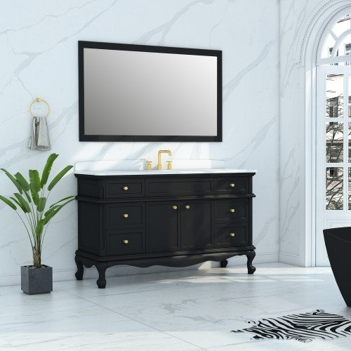 "Madera Floor Mount 60"" Single Sink Vanity"
