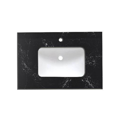 Virta Quartz Black Vanity Countertop