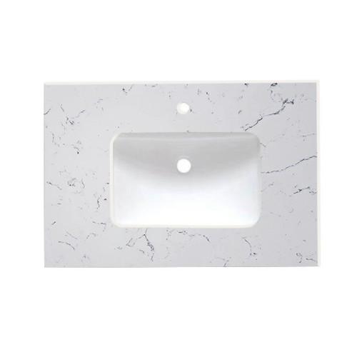 Virta Quartz Carrara Vanity Countertop