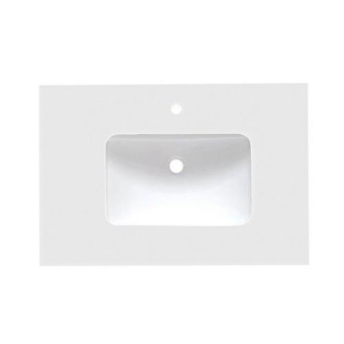 Virta Quartz Crystal White Vanity Countertop