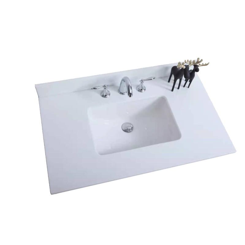 Virta Quartz White Vanity Countertop