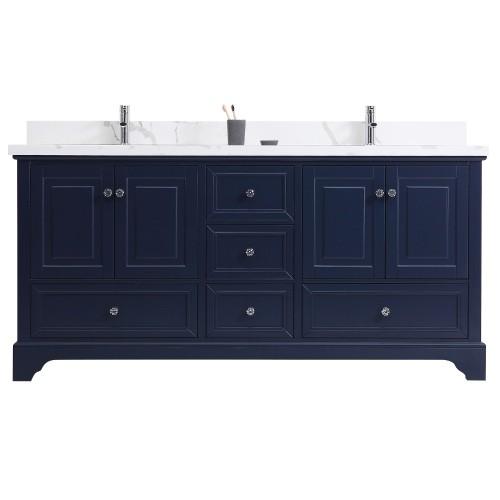 Dalia Floor Mount 72'' Double Sink Vanity