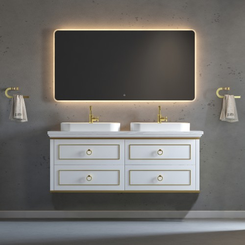 """Whitestar Wall Hung 60"""" Double Sink Vanity"""