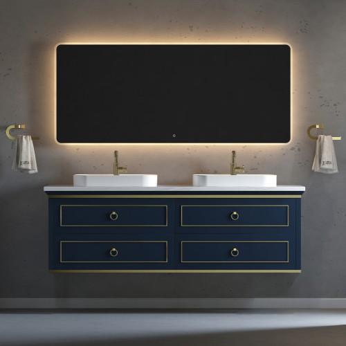 "Bluestar Wall Hung 72"" Double Sink Vanity"