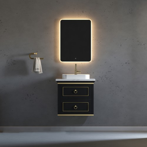 "Blackstar Wall Hung 24"" Single Sink Vanity"