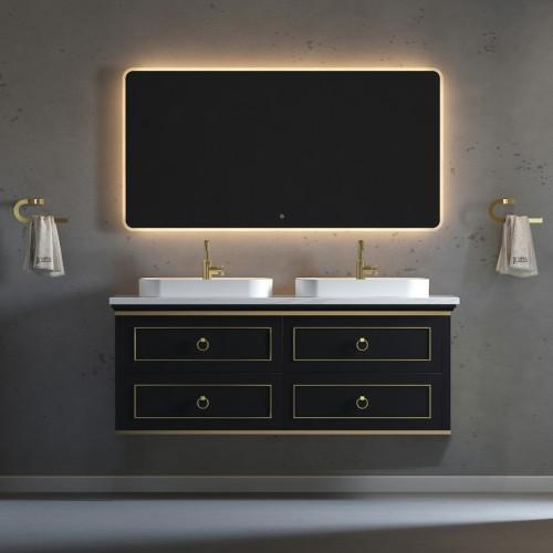 "Blackstar Wall Hung 60"" Double Sink Vanity"