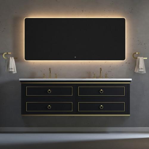 "Blackstar Wall Hung 72"" Double Sink Vanity"