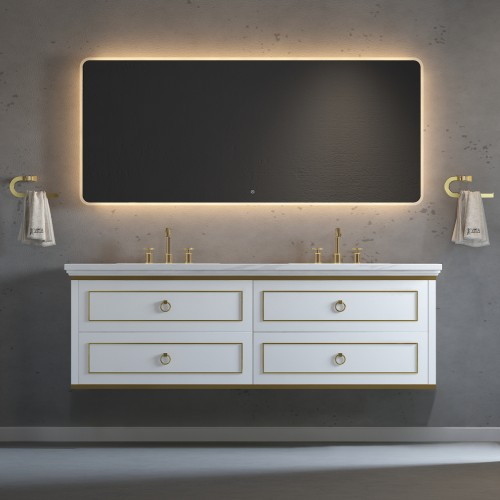 """Whitestar Wall Hung 72"""" Double Sink Vanity"""