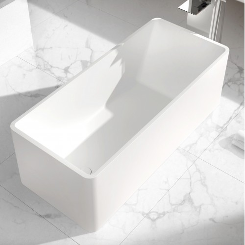 """Clarinet Freestanding Solid Surface Stone 63"""" Tub"""