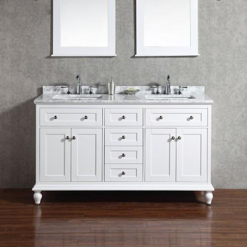 """Yasmine Floor Mount 60"""" Double Sink Vanity"""